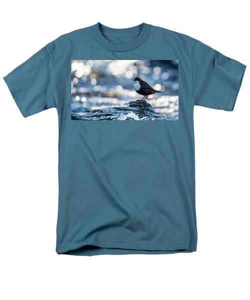 Men's T-Shirt  (Regular Fit) featuring the photograph Dipper On Ice by Torbjorn Swenelius
