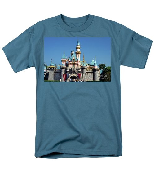 Men's T-Shirt  (Regular Fit) featuring the photograph Disneyland Castle by Mariola Bitner