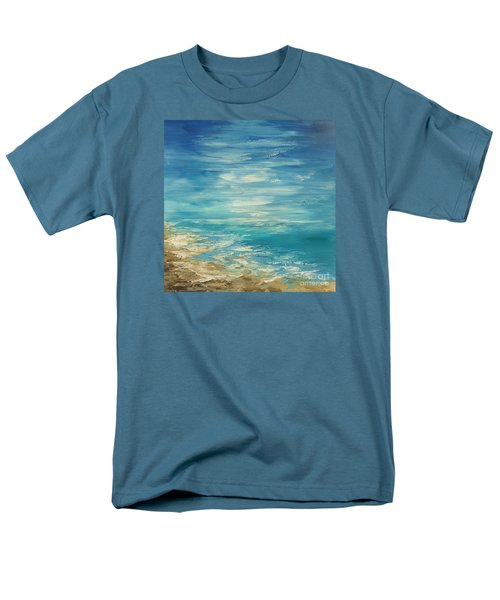 Men's T-Shirt  (Regular Fit) featuring the painting Distant Deluge by Tatiana Iliina