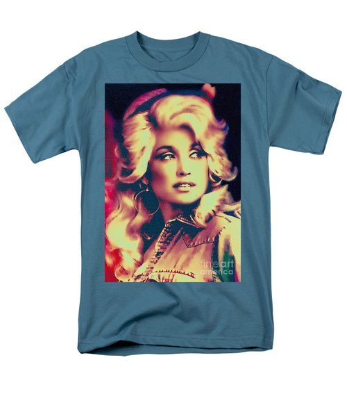 Dolly Parton - Vintage Painting Men's T-Shirt  (Regular Fit) by Ian Gledhill