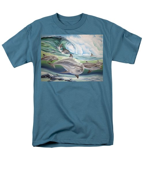 Dolphin 2 Men's T-Shirt  (Regular Fit) by William Love