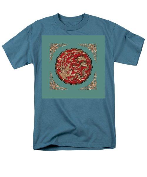 Dragon And Phoenix Men's T-Shirt  (Regular Fit) by Kristin Elmquist