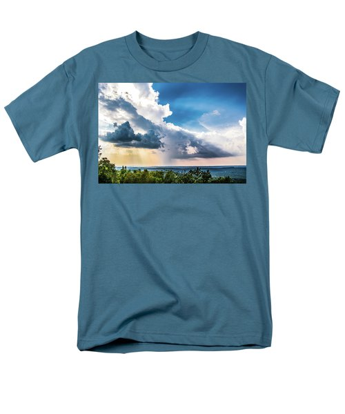 Men's T-Shirt  (Regular Fit) featuring the photograph Dramatic Sunrays Over The Valley by Shelby Young