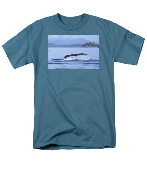 Dripping Whale Fluke Men's T-Shirt  (Regular Fit) by Michele Cornelius