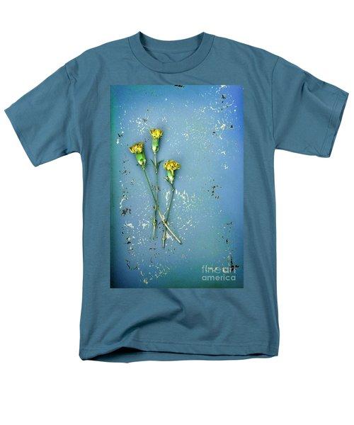 Men's T-Shirt  (Regular Fit) featuring the photograph Dry Flowers On Blue by Jill Battaglia