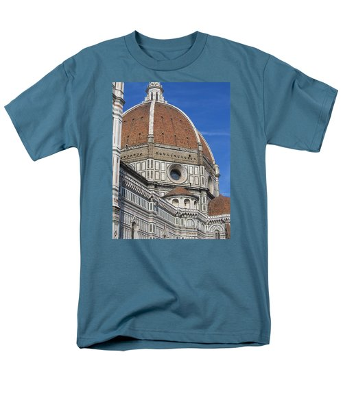 Duomo Cathedral Florence Italy  Men's T-Shirt  (Regular Fit) by Lisa Boyd