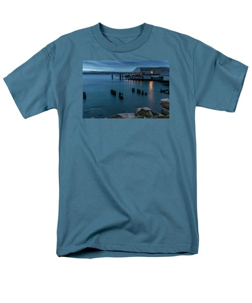 Men's T-Shirt  (Regular Fit) featuring the photograph Dusk Falls Over The Lobster Shop by Rob Green