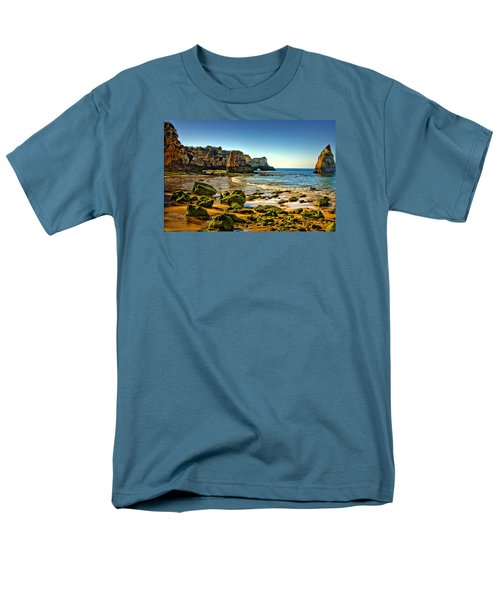 Men's T-Shirt  (Regular Fit) featuring the photograph Early Morning Alvor Beach by Brian Tarr