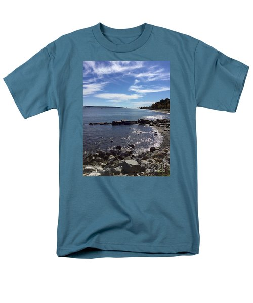 East End Beach Portland, Maine, October 2015 Men's T-Shirt  (Regular Fit) by Patricia E Sundik