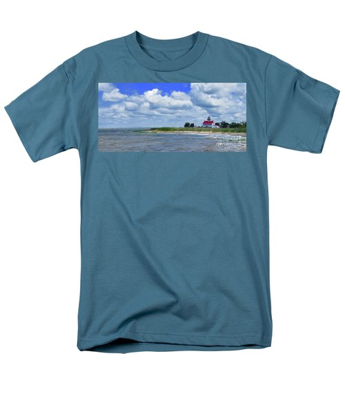 East Point Lighthouse At High Tide Men's T-Shirt  (Regular Fit) by Nancy Patterson
