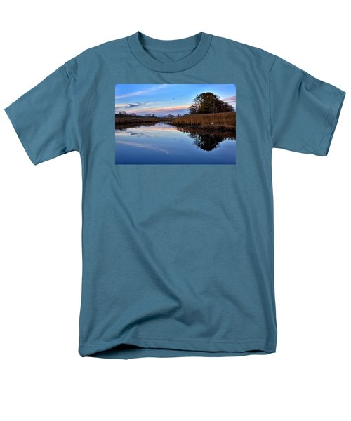 Men's T-Shirt  (Regular Fit) featuring the photograph Eastern Shore Sunset - Blackwater National Wildlife Refuge by Brendan Reals