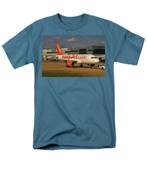 Men's T-Shirt  (Regular Fit) featuring the photograph Easyjet Airbus A319-111  by Tim Beach