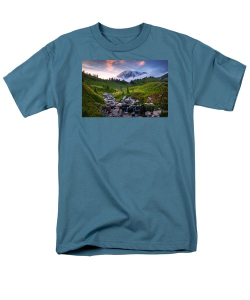 Men's T-Shirt  (Regular Fit) featuring the photograph Edith Creek Sunset by Dan Mihai
