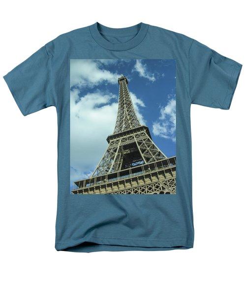 Men's T-Shirt  (Regular Fit) featuring the photograph Eiffel Tower by Allen Sheffield