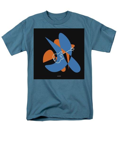 Electric Bass In Blue Men's T-Shirt  (Regular Fit) by David Bridburg