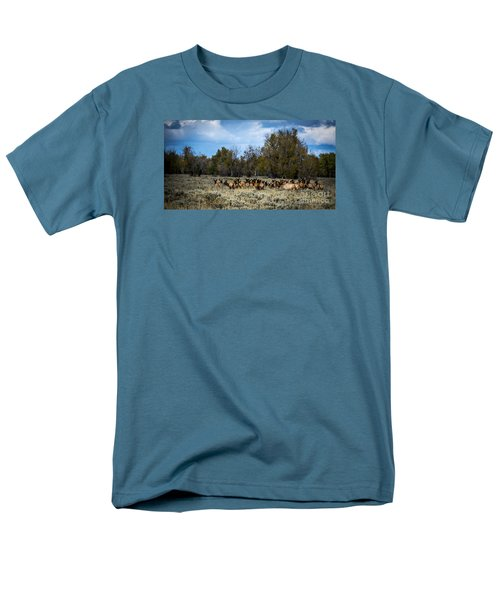 Elk Family Men's T-Shirt  (Regular Fit) by Sandy Molinaro