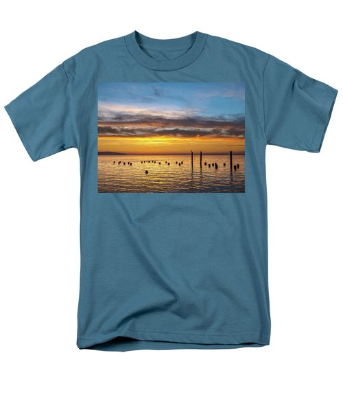 End Of The Day On Humboldt Bay Men's T-Shirt  (Regular Fit) by Greg Nyquist