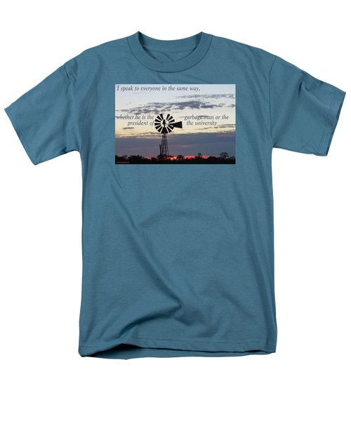 Men's T-Shirt  (Regular Fit) featuring the photograph Equal In God's Eye by David Norman