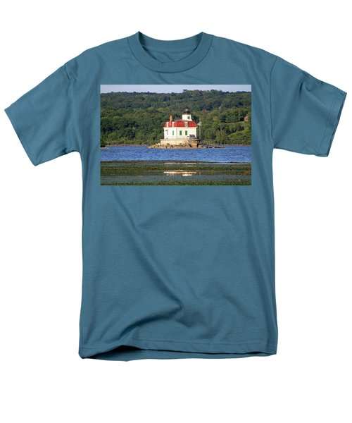 Men's T-Shirt  (Regular Fit) featuring the photograph Esopus Lighthouse In Summer #4 by Jeff Severson