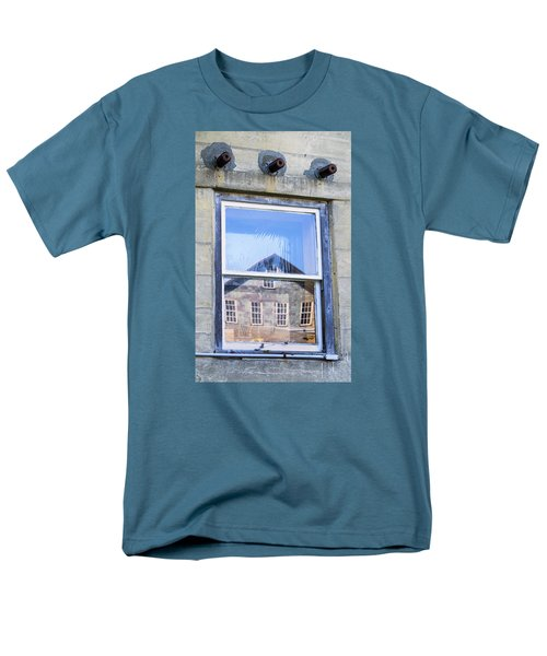 Men's T-Shirt  (Regular Fit) featuring the photograph Estey Window Reflection by Tom Singleton