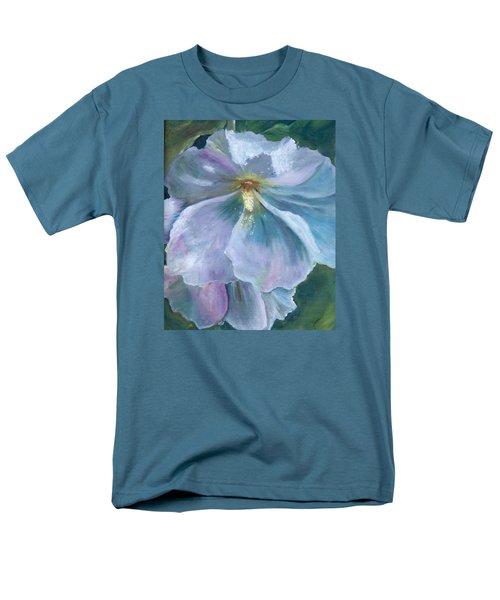 Ethereal White Hollyhock Men's T-Shirt  (Regular Fit)