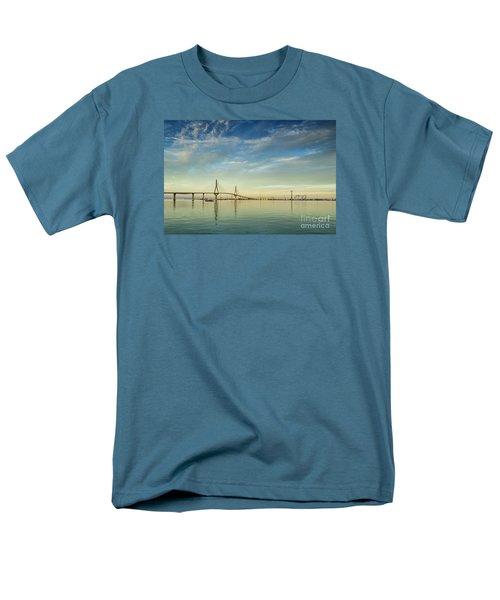 Evening Lights On The Bay Cadiz Spain Men's T-Shirt  (Regular Fit) by Pablo Avanzini