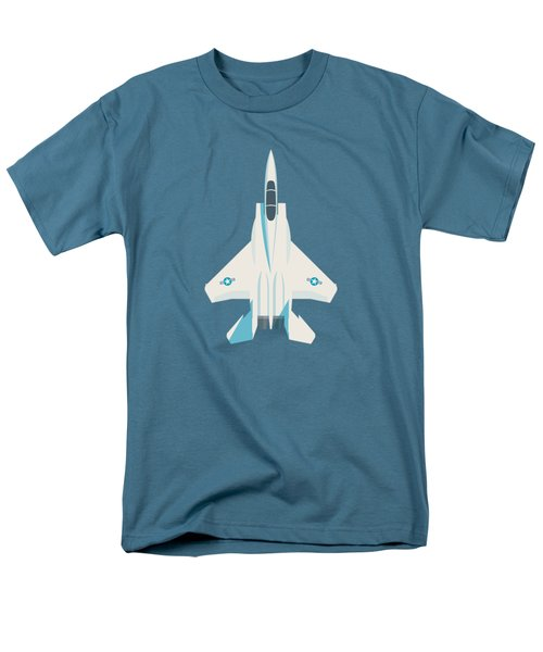 F15 Eagle Us Air Force Fighter Jet Aircraft - Slate Men's T-Shirt  (Regular Fit)