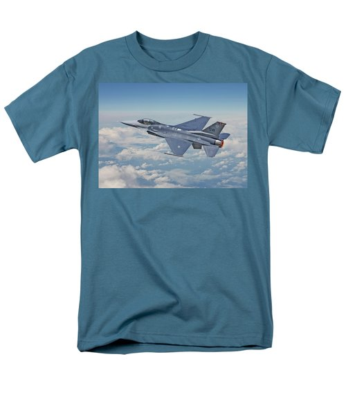 Men's T-Shirt  (Regular Fit) featuring the digital art F16 - Fighting Falcon by Pat Speirs