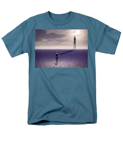 Men's T-Shirt  (Regular Fit) featuring the digital art Facing The Future by John Alexander