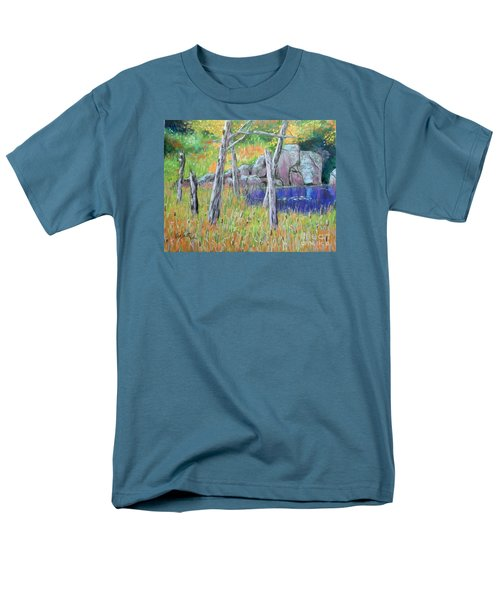Fall  Along The Highwy  Men's T-Shirt  (Regular Fit) by Rae  Smith