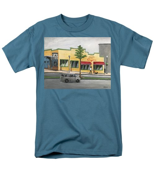 Men's T-Shirt  (Regular Fit) featuring the painting Falls Church by Victoria Lakes