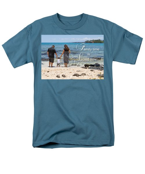 Family Time Is Sacred Time Men's T-Shirt  (Regular Fit) by Denise Bird