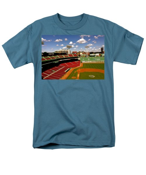 Men's T-Shirt  (Regular Fit) featuring the photograph Fenway Park Iv  Fenway Park  by Iconic Images Art Gallery David Pucciarelli