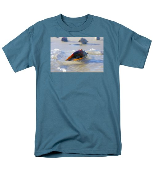 Fighting Conch On Beach Men's T-Shirt  (Regular Fit) by Robb Stan