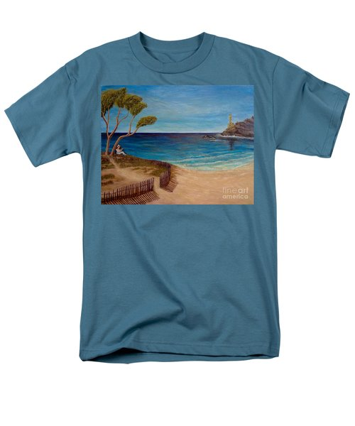 Finding My Special Place In The Summertime  Men's T-Shirt  (Regular Fit) by Kimberlee Baxter
