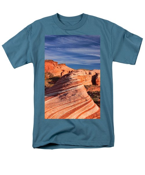 Fire Wave Men's T-Shirt  (Regular Fit) by Tammy Espino