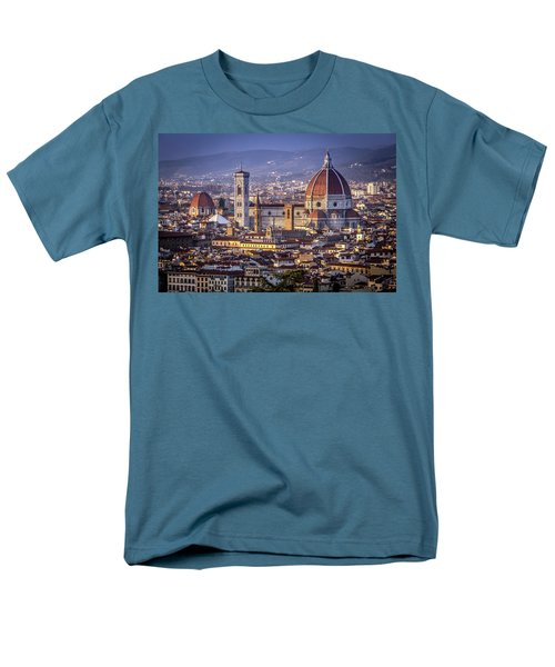 Men's T-Shirt  (Regular Fit) featuring the photograph Firenze E Il Duomo by Sonny Marcyan