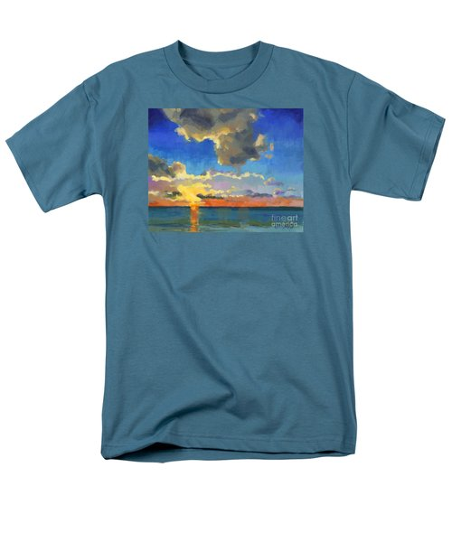 Men's T-Shirt  (Regular Fit) featuring the painting First Light by Nancy  Parsons