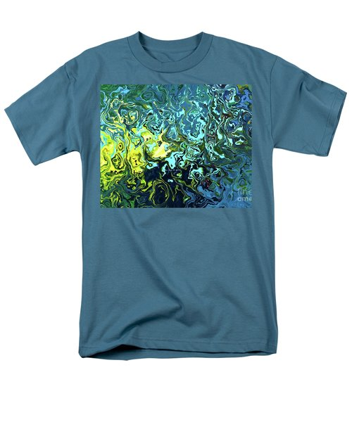 Fish Abstract Art Men's T-Shirt  (Regular Fit) by Annie Zeno