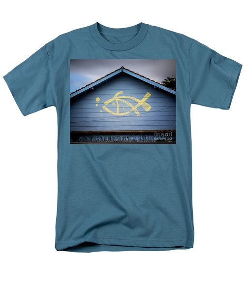 Men's T-Shirt  (Regular Fit) featuring the photograph Fish House by Perry Webster