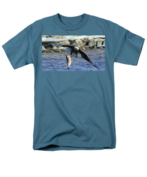 Men's T-Shirt  (Regular Fit) featuring the photograph Fish In Hand by Coby Cooper