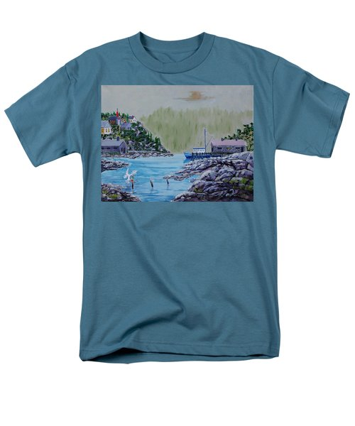 Fisher's Cove Men's T-Shirt  (Regular Fit) by Mike Caitham
