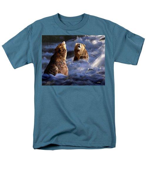 Fishing Alaska Men's T-Shirt  (Regular Fit) by Bill Stephens