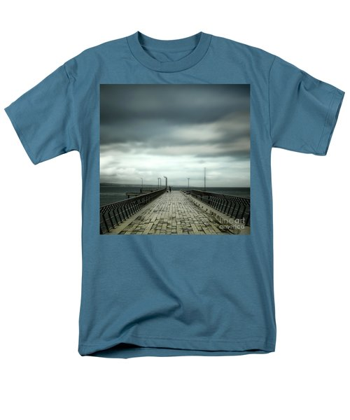 Men's T-Shirt  (Regular Fit) featuring the photograph Fishing Pier by Perry Webster
