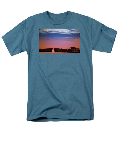 Floating On Orange Men's T-Shirt  (Regular Fit) by Rebecca Davis