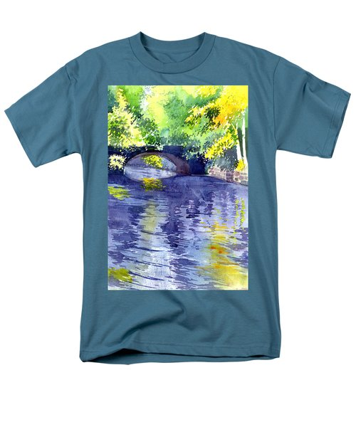 Men's T-Shirt  (Regular Fit) featuring the painting Floods by Anil Nene