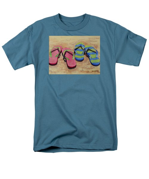 Men's T-Shirt  (Regular Fit) featuring the painting Florida Dress Shoes by Judy Mercer