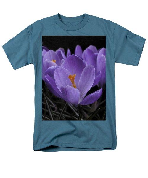 Flower Crocus Men's T-Shirt  (Regular Fit) by Nancy Griswold