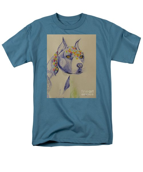 Men's T-Shirt  (Regular Fit) featuring the photograph Flower Dog 1 by Hilda and Jose Garrancho