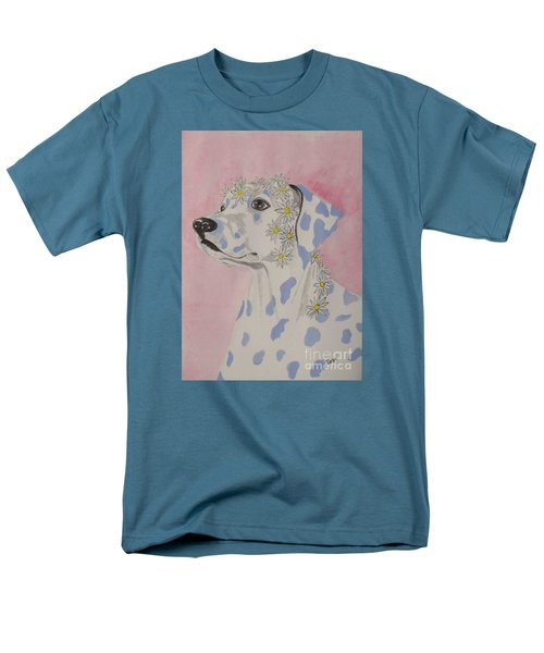 Men's T-Shirt  (Regular Fit) featuring the painting Flower Dog 2 by Hilda and Jose Garrancho